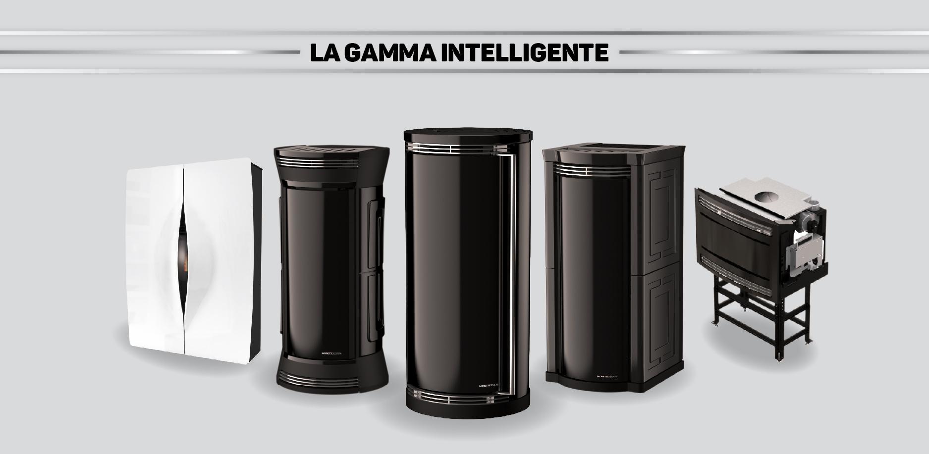 Le stufe a pellet della Gamma Intelligente Moretti Design