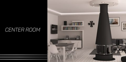 Center Room   Il camino a pellet al centro della tua abitazione