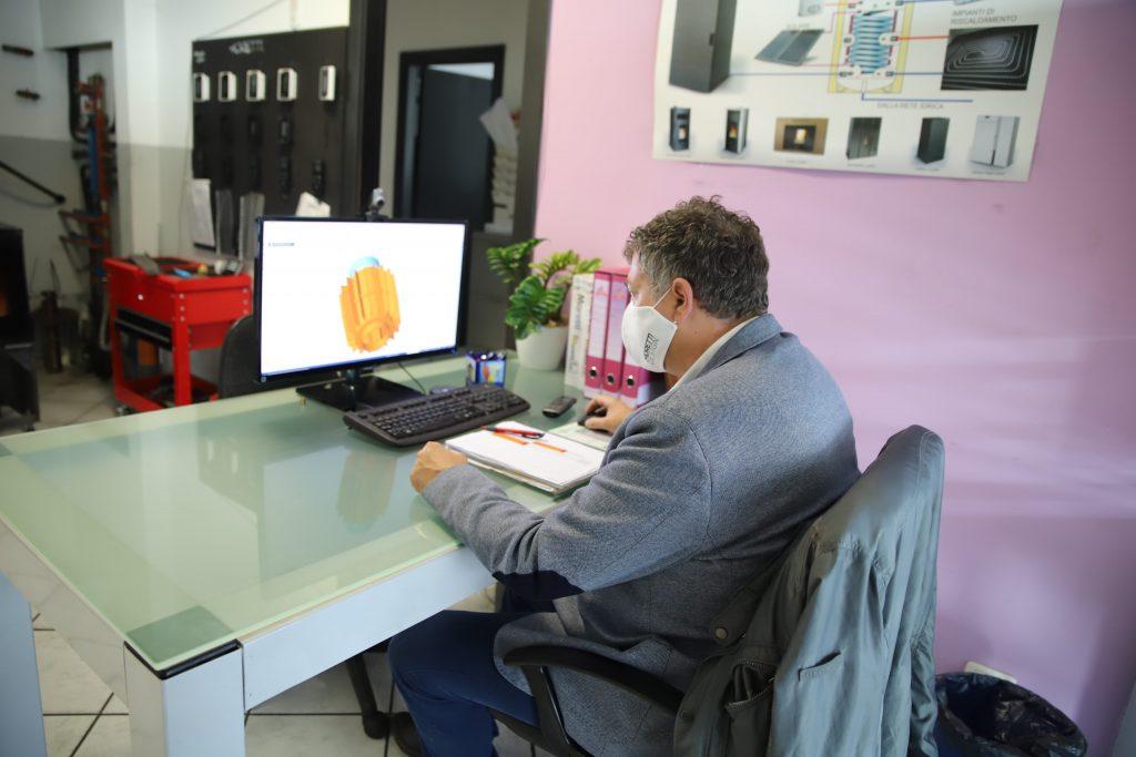 Progettazione Stufa a Pellet Moretti Design